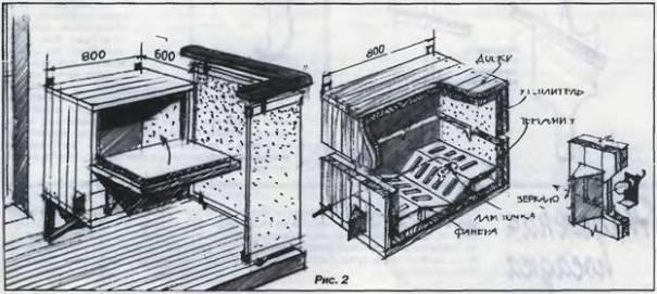 Погребок на балконе своими руками чертёж 53
