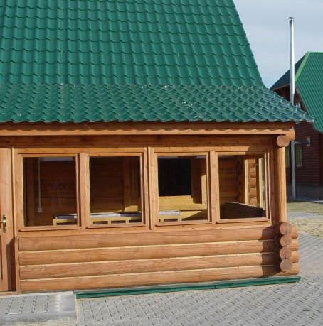 Строительство веранды деревянного